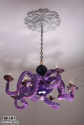 chandelier,decorations,furiniture,octopus