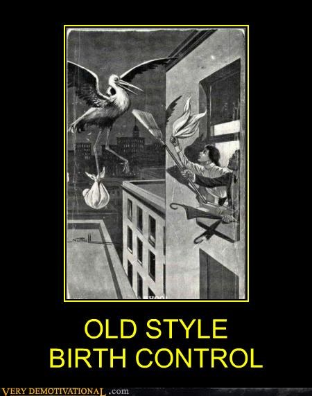 birth control Hall of Fame hilarious no babies old timey stork - 4803022592