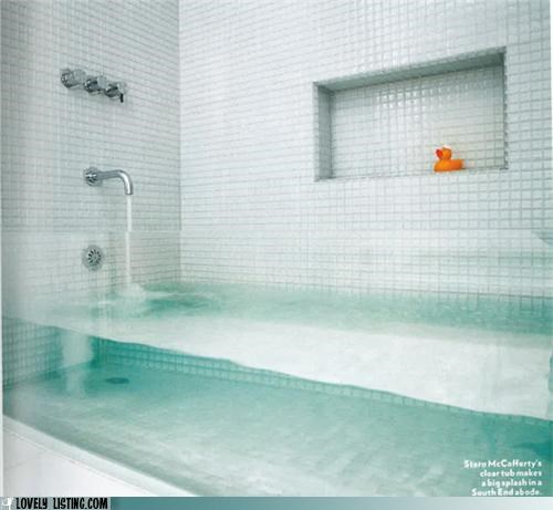 bathtub,clear,glass