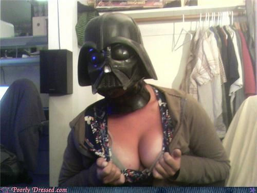 cleavage,darth vader,exploded