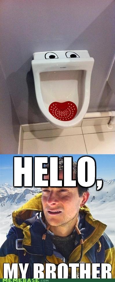 bear grylls brother pee toilet urinal - 4803353600