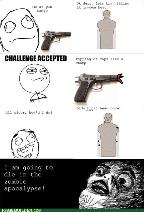 dying,Rage Comics,Target,zombie