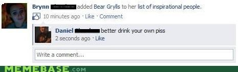 bear grylls,facebook,i like this,sister