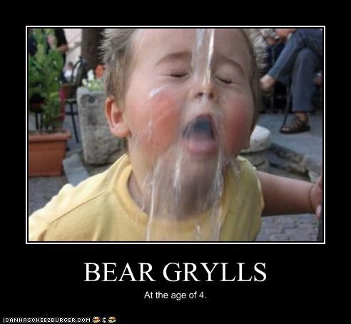 bear grylls child piss