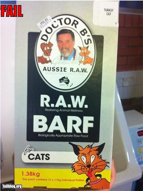 abbreviation animals barf Cats failboat g rated gross pet food pets