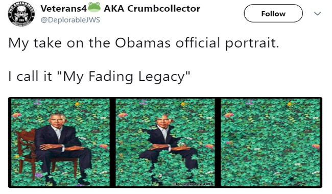 twitter tweets barack obama Michelle Obama paintings cheezcake funny - 4804869