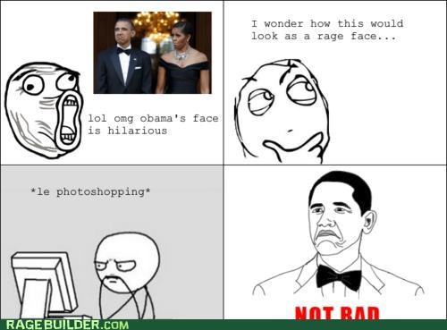 obama,photoshop,Rage Comics,rage face