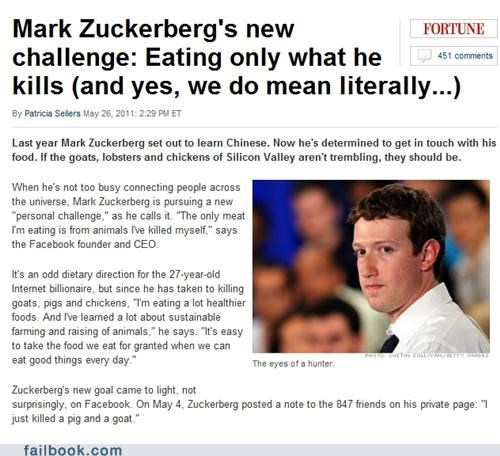 animals food Mark Zuckerberg news poll vegetarian