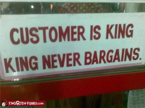 bargain king sign store