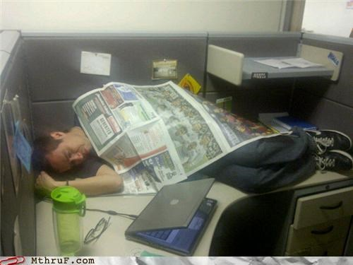 cubicle naps sleeping on the job - 4805632512