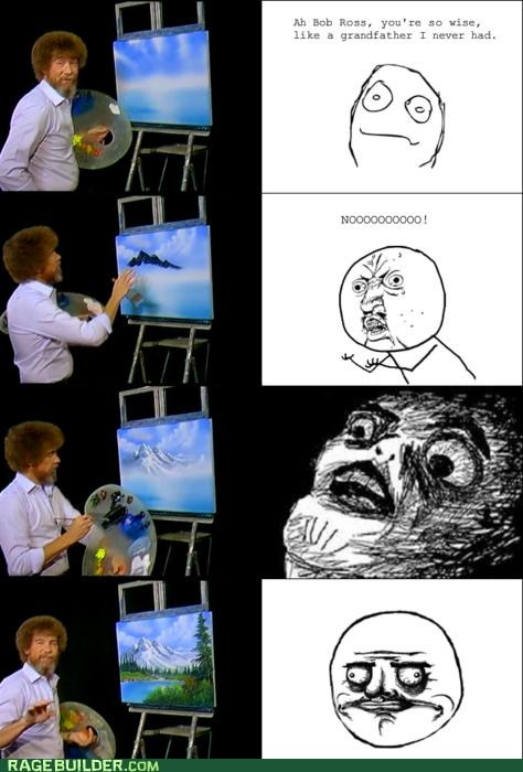 bob ross,painting,PBS,Rage Comics