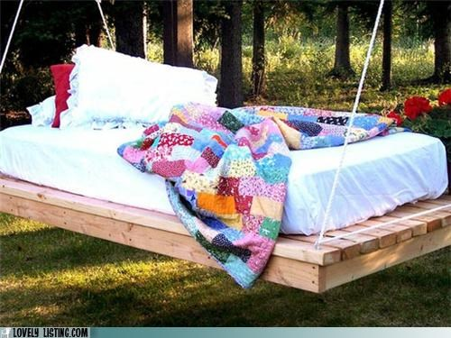 bed outdoors rain swing - 4805936896