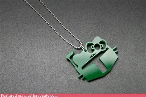 acrylic boba fett chain hello kitty necklace pendant star wars