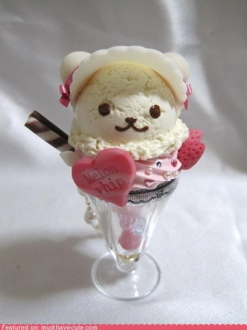 bear delicious fake ice cream model plastic toy - 4806037760