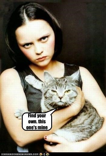 actor,animal,cat,celeb,christina ricci,funny