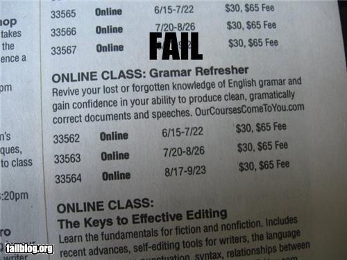 failboat,grammar,g rated,irony,school,spelling