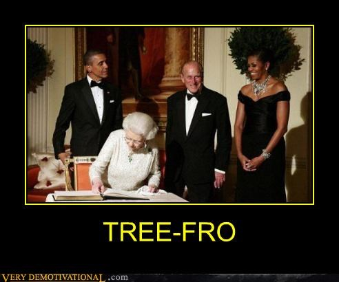 fro,hilarious,Michelle Obama,tree,wtf