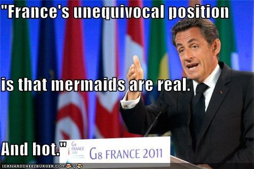france,mermaids,Nicolas Sarkozy,political pictures