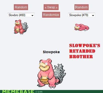 brother Pokémemes Pokémon retardation slowbro slowpoke - 4806530304