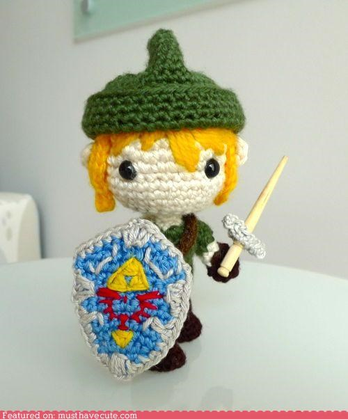 Amigurumi craft crochet DIY How To link yarn zelda - 4806576128