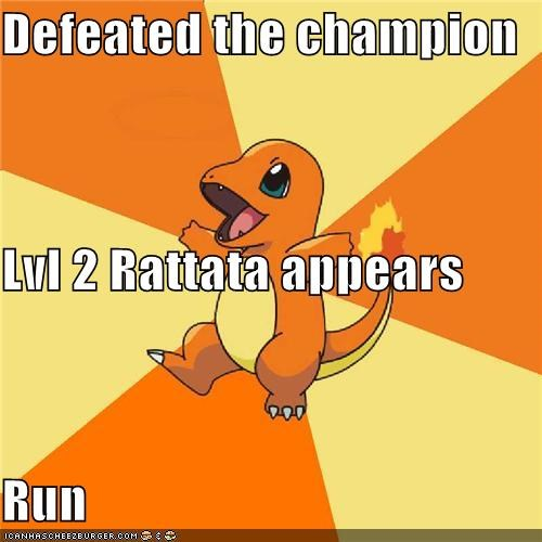 Champion Pokémemes Pokémon run safely - 4806664960