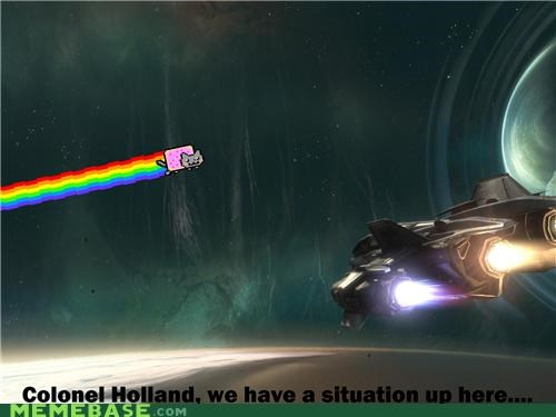 colonel holland movies Nyan Cat space this one is lost on me video games - 4807683328