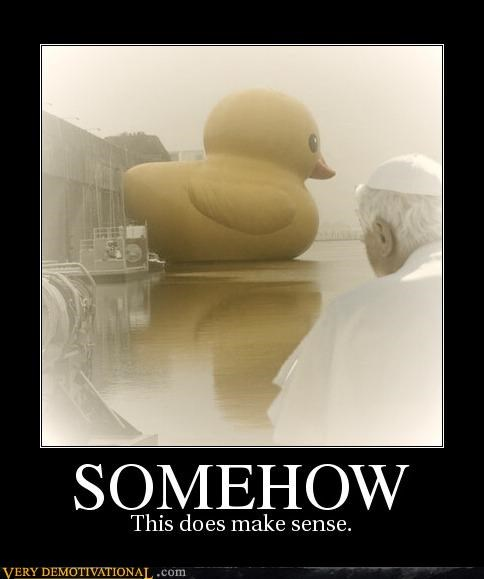 duck hilarious photoshop pope wtf - 4807824384