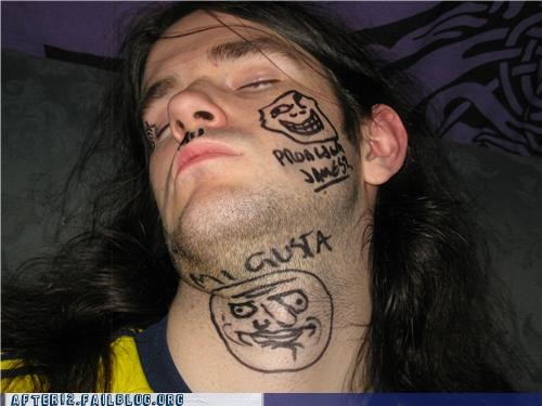 me gusta passed out sharpie troll - 4807848960