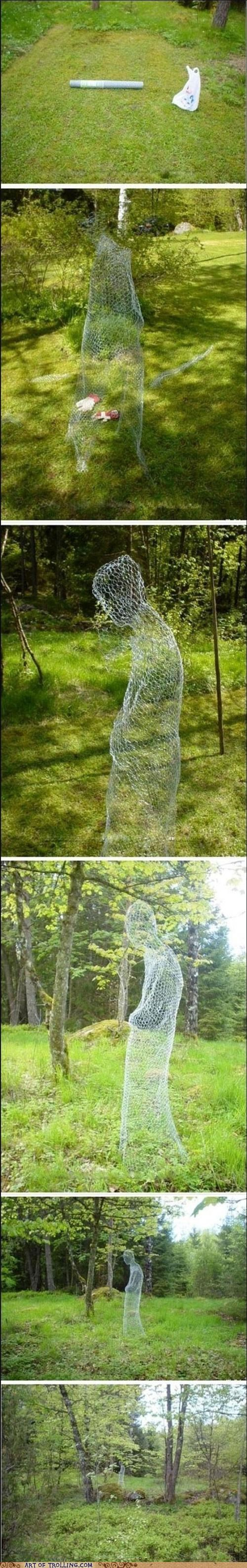 awesome chicken wire ghost IRL - 4807963392