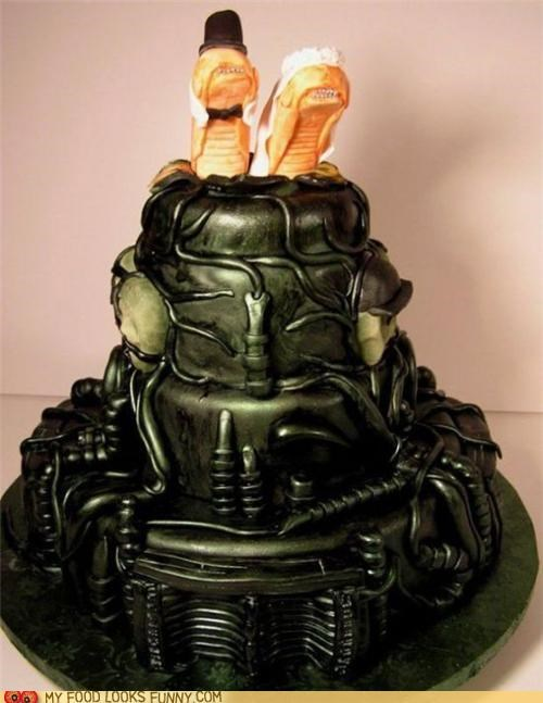 alien biomech cake chest-bursters geiger wedding - 4808648192