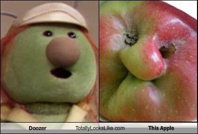 apple,Deformed,doozer,food,fraggle rock,fruit,muppets
