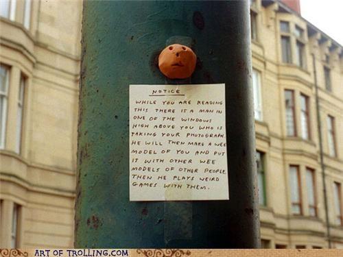 creepy IRL models pole sign - 4808947456