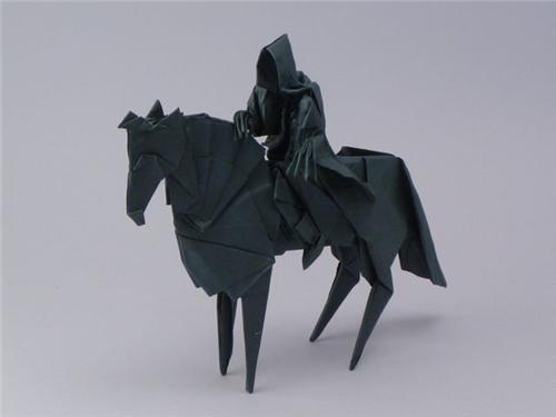 Fan Art,jason ku,Lord of the Rings,Nazgul,origami