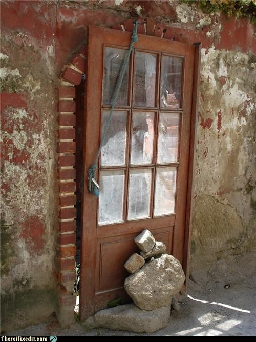 dangerous doors holding it up home improvement zombie - 4809165312