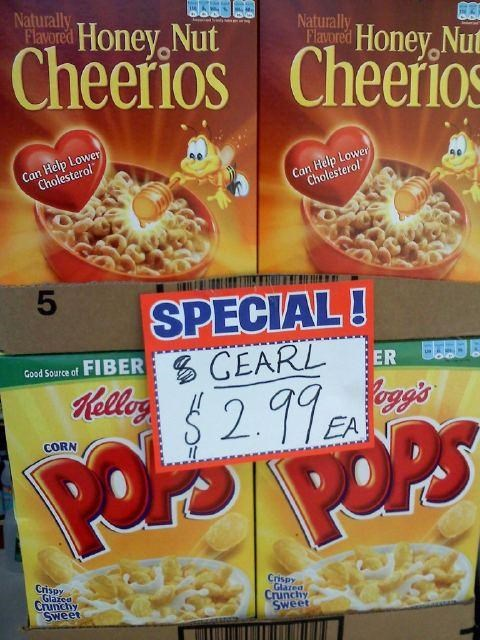Cereal Misspeller,sign of the times
