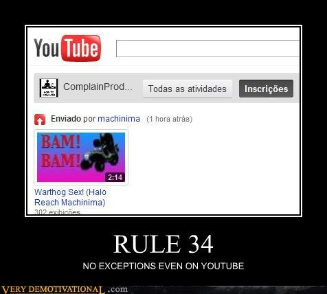 RULE 34 NO EXCEPTIONS EVEN ON YOUTUBE