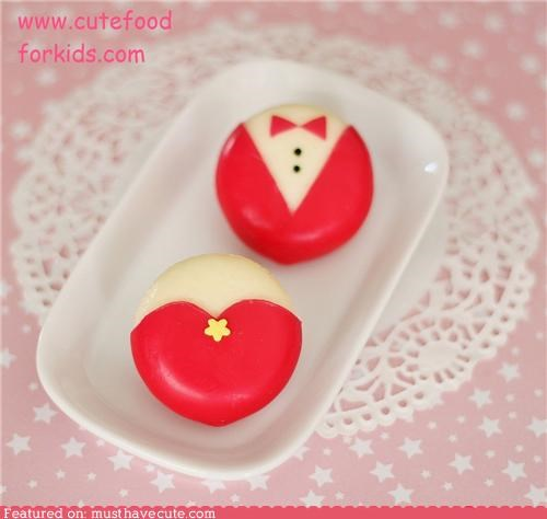 Babybel tuxedo and little red dress