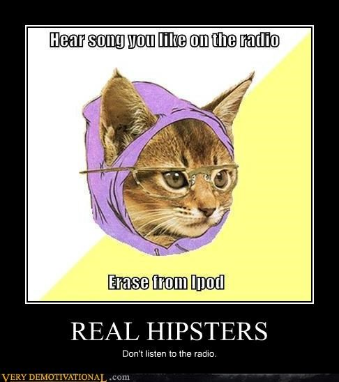 hilarious Hipster Kitty ipod radio