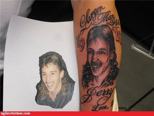 mullets,tattoos,funny,g rated,Ugliest Tattoos