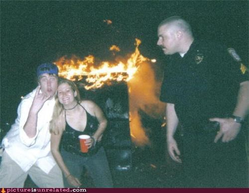 arson,bad idea,cops,Party,wtf