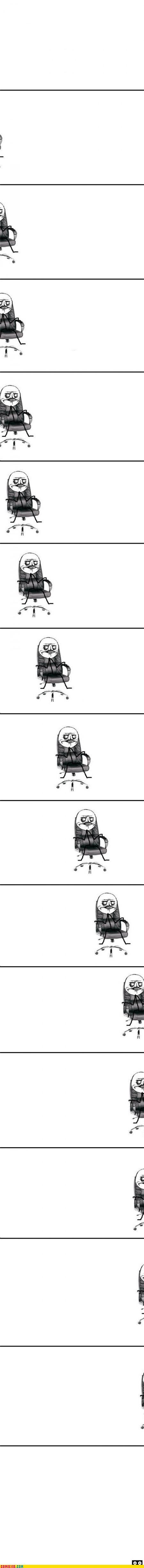 me gusta,office chair,Rage Comics,rolly chair