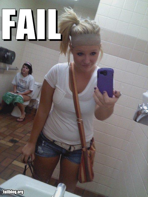 background,failboat,girls,gross,not so sexy,photobomb,toilet