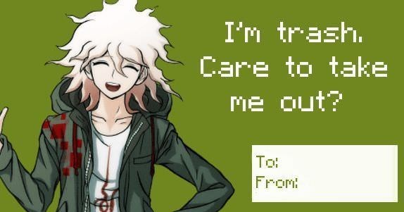 Funny anime valentines cards.