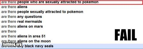 Autocomplete Me failboat google innuendo internet Pokémon technology