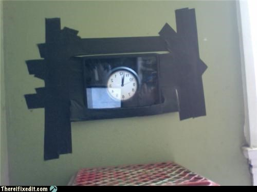 apple products,clock,dual use,holding it up,ipad,tape,technology