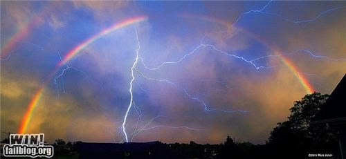 lightning,mother nature ftw,rainbows,thunderstorm