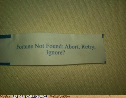 error fair fortune cookie - 4813870336