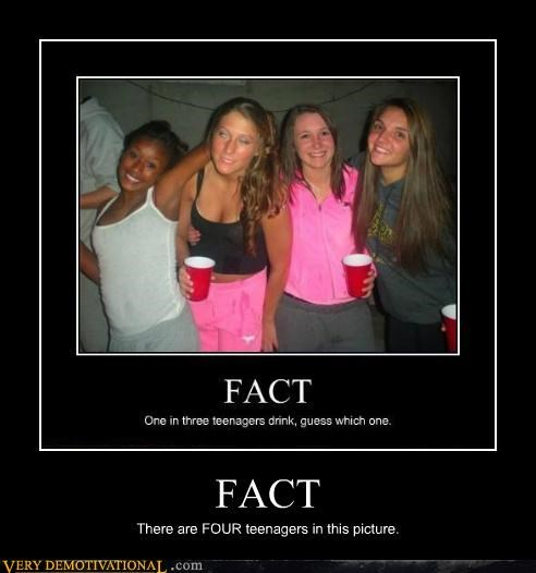 FACT There are FOUR teenagers in this picture.