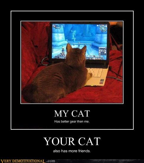 cat Pure Awesome video games WoW - 4814088704