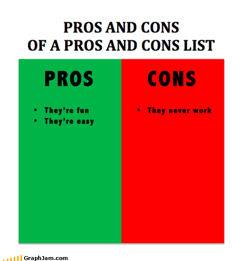 cons list pros